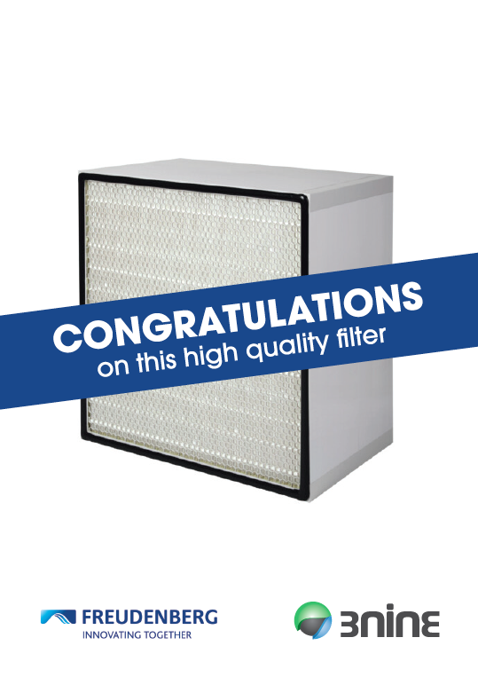 HEPA filter for 3nine oil mist eliminator